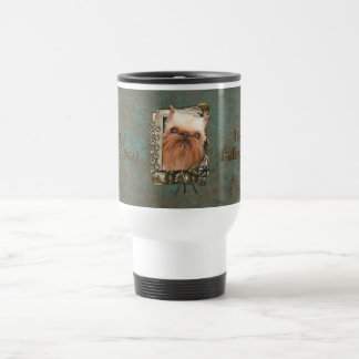 Fathers Day DAD - Stone Paws - Brussels Griffon 15 Oz Stainless Steel Travel Mug