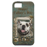 Fathers Day DAD - Stone Paws - Bulldog iPhone 5 Case
