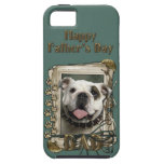 Fathers Day DAD - Stone Paws - Bulldog iPhone 5 Covers