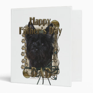 Fathers Day DAD - Stone Paws - Cairn - Rosco 3 Ring Binders