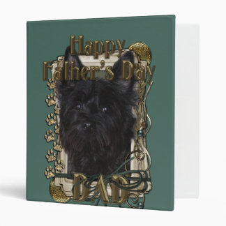 Fathers Day DAD - Stone Paws - Cairn - Rosco Vinyl Binder