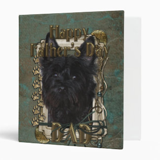 Fathers Day DAD - Stone Paws - Cairn - Rosco 3 Ring Binder
