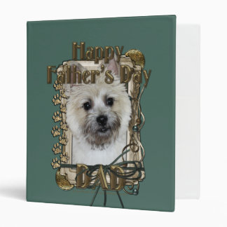 Fathers Day DAD - Stone Paws - Cairn - Teddy Bear Vinyl Binder