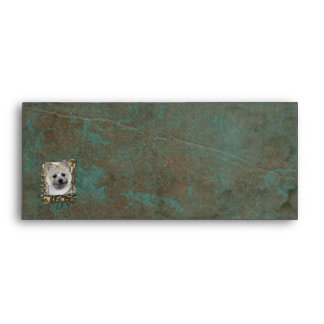 Fathers Day DAD - Stone Paws - Cairn - Teddy Bear Envelope
