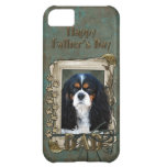 Fathers Day DAD- Stone Paws - Cavalier - Tri Color iPhone 5C Case