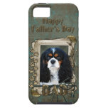 Fathers Day DAD- Stone Paws - Cavalier - Tri Color iPhone 5 Cover