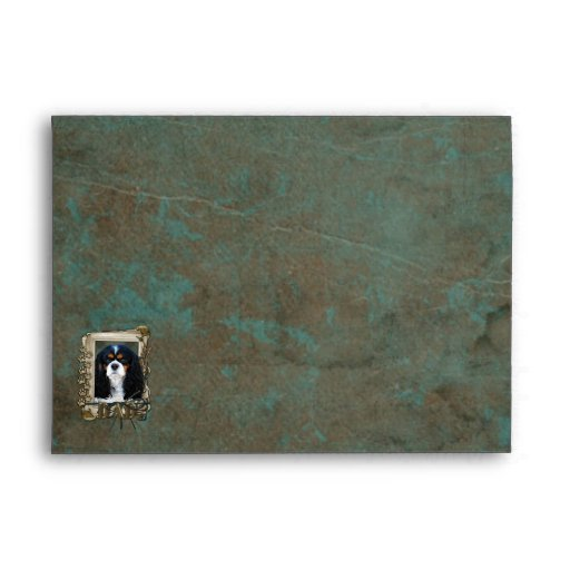 Fathers Day DAD- Stone Paws - Cavalier - Tri Color Envelopes