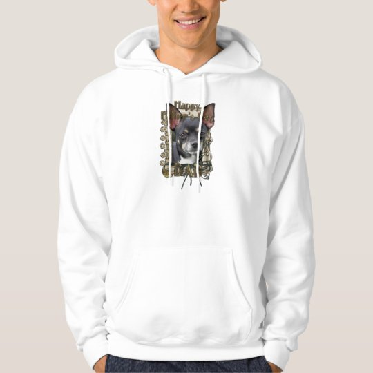 Fathers Day DAD- Stone Paws - Chihuahua - Isabella Hoodie