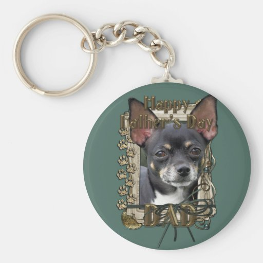 Fathers Day DAD- Stone Paws - Chihuahua - Isabella Keychains