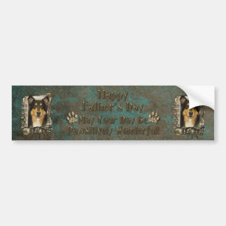 Fathers Day DAD - Stone Paws - Collie - Caroline Bumper Sticker