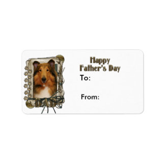 Fathers Day DAD - Stone Paws - Collie - Natalie Label