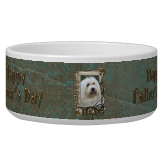 Fathers Day DAD - Stone Paws - Coton de Tulear Bowl