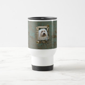 Fathers Day DAD - Stone Paws - Coton de Tulear Travel Mug