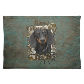 Fathers Day DAD - Stone Paws - Dachshund - Winston Cloth Placemat