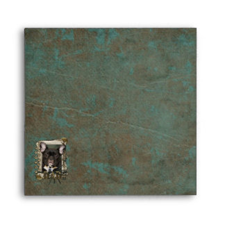Fathers Day DAD Stone Paws - French Bulldog - Teal Envelopes