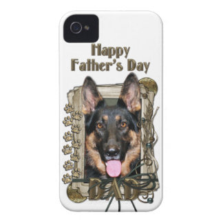 Fathers Day DAD - Stone Paws German Shepherd Kuno Case-Mate iPhone 4 Case
