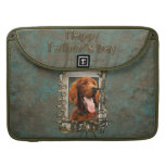 Fathers Day DAD - Stone Paws - Irish Setter Sleeve For MacBooks