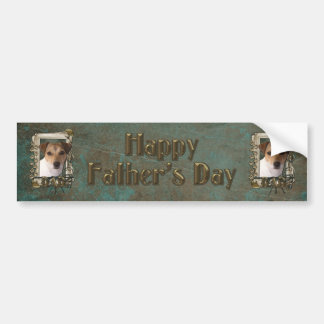 Fathers Day DAD - Stone Paws - Jack Russell Car Bumper Sticker