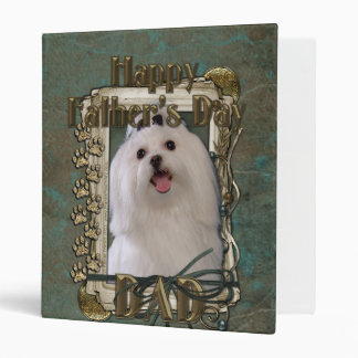 Fathers Day DAD - Stone Paws - Maltese 3 Ring Binder