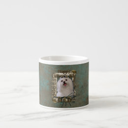 Fathers Day DAD - Stone Paws - Maltese Espresso Cup