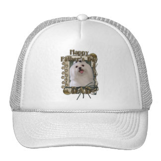 Fathers Day DAD - Stone Paws - Maltese Trucker Hat