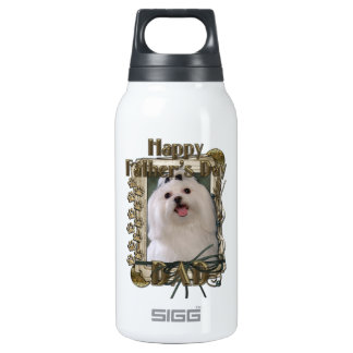 Fathers Day DAD - Stone Paws - Maltese Insulated Water Bottle