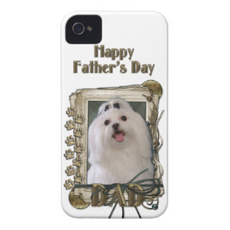 Fathers Day DAD - Stone Paws - Maltese iPhone 4 Case-Mate Case