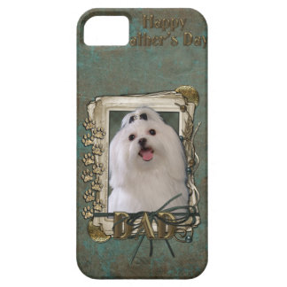 Fathers Day DAD - Stone Paws - Maltese iPhone SE/5/5s Case