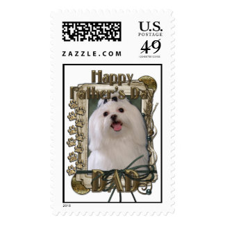 Fathers Day DAD - Stone Paws - Maltese Stamp