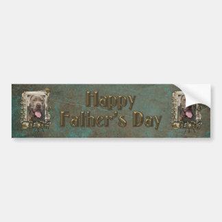 Fathers Day DAD - Stone Paws - Mastiff - Snoop Bumper Sticker