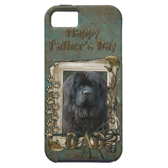 Fathers Day DAD - Stone Paws - Newfoundland iPhone SE/5/5s Case