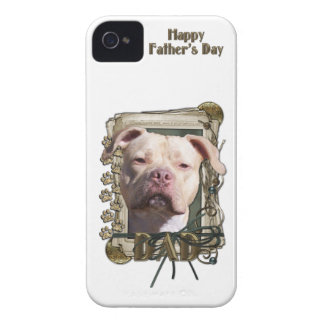 Fathers Day DAD Stone Paws - Pitbull - Jersey Girl Case-Mate iPhone 4 Case