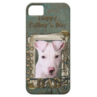 Fathers Day DAD - Stone Paws - Pitbull Puppy iPhone 5 Case
