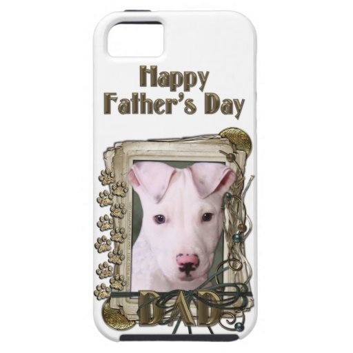 Fathers Day DAD - Stone Paws - Pitbull Puppy iPhone 5 Cases