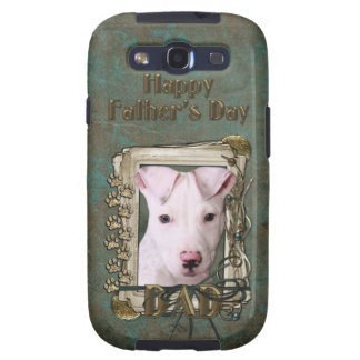 Fathers Day DAD - Stone Paws - Pitbull Puppy Samsung Galaxy SIII Cover