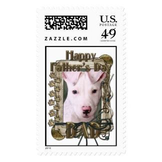 Fathers Day DAD - Stone Paws - Pitbull Puppy Postage