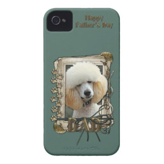 Fathers Day DAD - Stone Paws - Poodle - Apricot iPhone 4 Case-Mate Cases