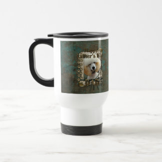 Fathers Day DAD - Stone Paws - Poodle - Apricot Mug