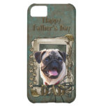 Fathers Day DAD - Stone Paws - Pug iPhone 5C Case