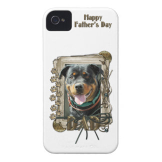 Fathers Day DAD - Stone Paws Rottweiler SambaParTi iPhone 4 Cover