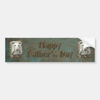 Fathers Day DAD - Stone Paws - Saluki Bumper Sticker