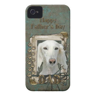 Fathers Day DAD - Stone Paws - Saluki iPhone 4 Cover
