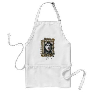 Fathers Day DAD - Stone Paws - Siberian Husky Adult Apron