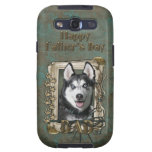 Fathers Day DAD - Stone Paws - Siberian Husky Samsung Galaxy SIII Cover