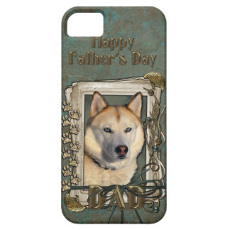 Fathers Day DAD - Stone Paws Siberian Husky Copper iPhone SE/5/5s Case