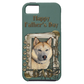 Fathers Day DAD- Stone Paws Siberian Husky Copper iPhone SE/5/5s Case