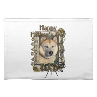 Fathers Day DAD- Stone Paws Siberian Husky Copper Placemat