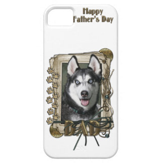 Fathers Day DAD - Stone Paws - Siberian Husky iPhone SE/5/5s Case