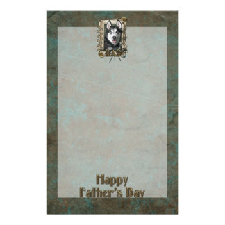 Fathers Day DAD - Stone Paws - Siberian Husky Stationery