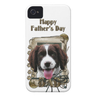 Fathers Day DAD - Stone Paws - Springer - Baxter iPhone 4 Covers
